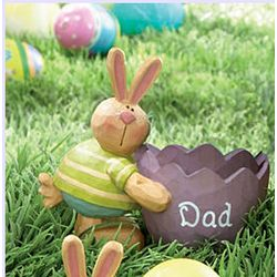 Personalized Bunny with Eggshell