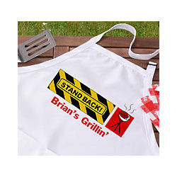 Personalized BBQ Stand Back Apron