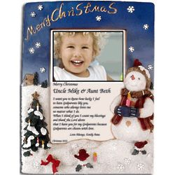 Merry Christmas Frame for Godparents with Poem