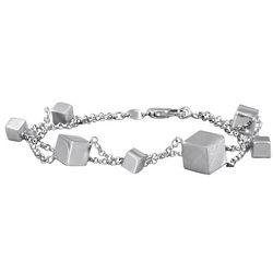 Sterling Silver Two Row Bracelet