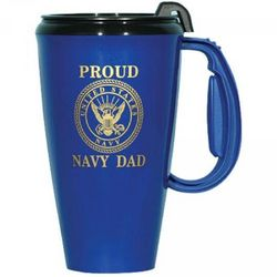 Proud Navy Dad Travel Mug