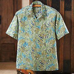 Men's Cotton Hawaiian Palm Shirt