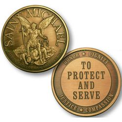 St. Michael To Protect and Serve Law Enforcement Keepsake Coin