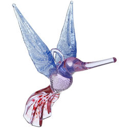 Handblown Glass Hummingbird Ornament