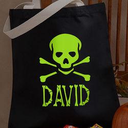 Glow-in-the-Dark Skull Treat Bag