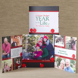 Custom Photo Through The Year Christmas Cards