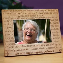 We Will Meet Again Memorial Wood Picture Frame