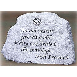 Irish Proverb Message Stone