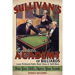 Personalized Vintage Billiard Bar Sign