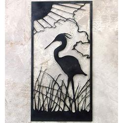 Heron Metal Art