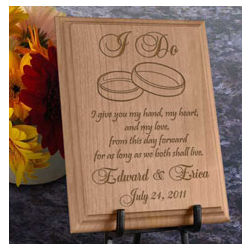 "Personalized ""I Do"" Wooden Plaque"