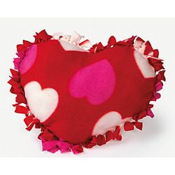 Fleece Valentine Heart Tied Pillow Craft Kit