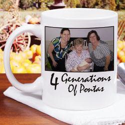 Personalized Generations Photo Coffee Mug