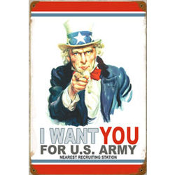 Uncle Sam Metal Sign
