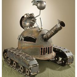 One Man Tank Sculpture
