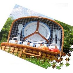 Country Picnic Personalized Jigsaw Puzzle