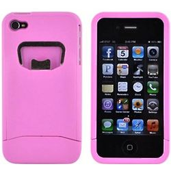 Baby Pink iPhone 4 Hard Case with Bottle Opener