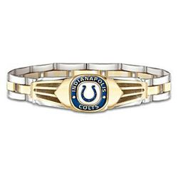 NFL Indianapolis Colts Men's Stainless Steel Bracelet