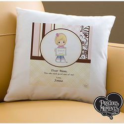Personalized Precious Moments Pillow for Mom