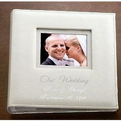 Personalized Ivory Love Story Wedding Album