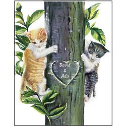 Climbing Kitties Personalized Print