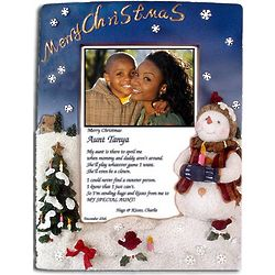 Merry Christmas Frame for Aunts with Poem