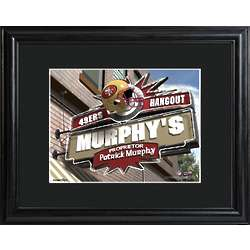 San Francisco 49ers Personalized Tavern Sign Print