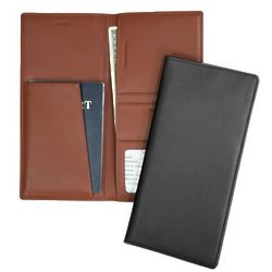 RFID Blocking Leather Passport and Ticket Holder