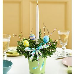 Easter Centerpiece with Candle