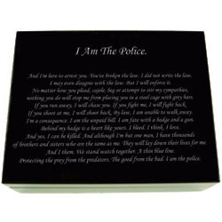 Personalized I Am the Police Keepsake Box