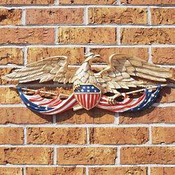 Patriotic Eagle Metal Wall Decor