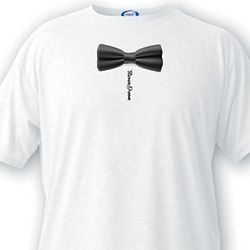 Groom's Personalized Bow Tie T-Shirt