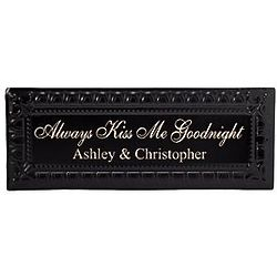 Personalized Always Kiss Me Goodnight Tin Wall Decor