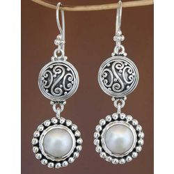 Moonlight Pearl Dangle Earrings