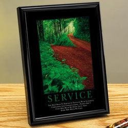 Service Path Framed Desktop Print