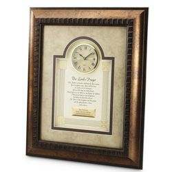 Lord's Prayer Picture Frame Clock