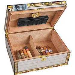Classic 50 Count White Cigar Box Humidor