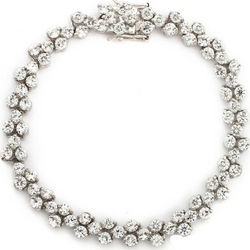 Tennis Bracelet with Brilliant Cut Cubic Zirconia