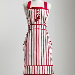 Red and White Striped Apron