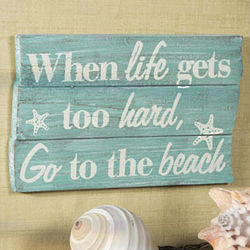 Beach Sign Wall Art