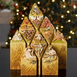 12 Days of Christmas Decorative Pillars