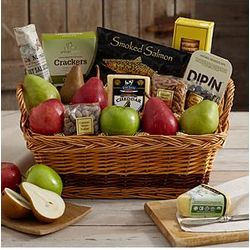 A Spread to Share Fruit and Snacks Gift Basket