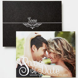 Happiest Moments Custom Photo Save the Date Cards