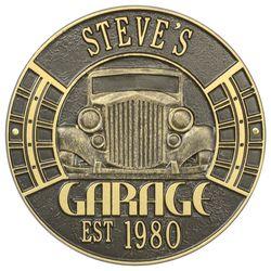 Personalized Vintage Car Address Plaque