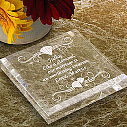 Personalized Diamond Keepsake & Paperweight
