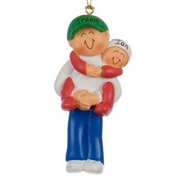 Big Brother Holding Baby Personalized Christmas Ornament