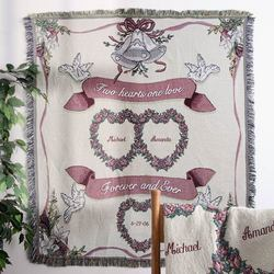 Two Hearts, One Love Anniversary Afghan