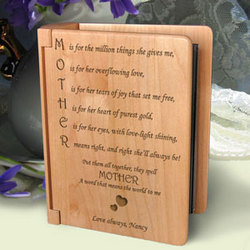 Personalized Mother Means Wooden Photo Album
