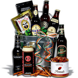 Irish Beer Bucket Gift Basket