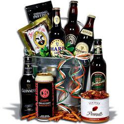 Irish Beer Bucket Gift Basket